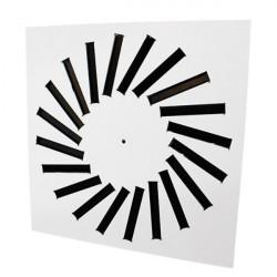 Perdületes anemosztát négyzet alakú AM - 593 x 593 mm / 24