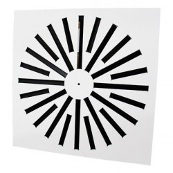 Perdületes anemosztát négyzet alakú AMS - 393 x 393 mm / 16