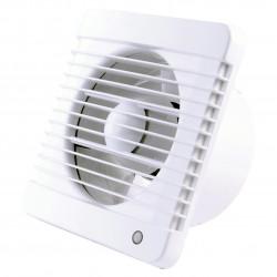 Fürdőszoba ventilátor húzókapcsolóval, időzítővel Ø 100 mm, erősebb motorral