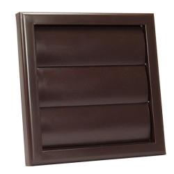 Műanyag barna szellőzőrács csőcsonkkal DALAP GP 100 RF