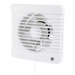 Fürdőszobai ventilátor időzítővel és húzókapcsolóval 12 V-os nedves környezet Ø 100 mm