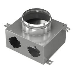 Fémelosztó doboz Flexitech Ø 63 mm rendszer csatlakoztatására 2 kimenettel
