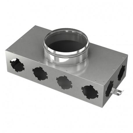 Fémelosztó doboz Flexitech Ø 63 mm rendszer csatlakoztatására 8 kimenettel