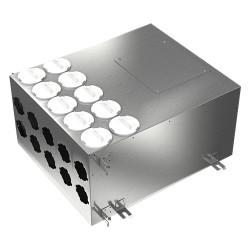 Fémelosztó doboz Flexitech Ø 63 mm rendszer csatlakoztatására 10 kimenettel