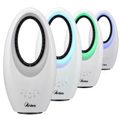 Lapátnélküli ventilátor időzítővel, távirányítóval és színes LED világítással MUNA BLADELESS