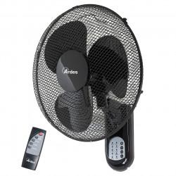 Fekete fali ventilátor távirányítóval PARETO COOL W40R