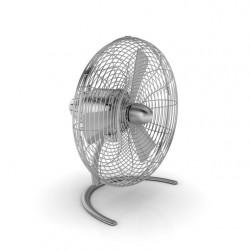 Asztali dizájner ventilátor CHARLY LITTLE Ø 30 cm, ezüst