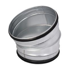 Galvanizált fém könyökidom 30° préselt gumi tömítéssel - Ø 80 mm