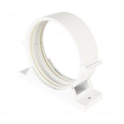 Műanyag csőtartó rezgéscsillapító gumival kerek légcsatornákhoz Ø 125 mm