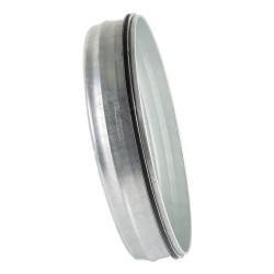 Fém végzáró gumi tömítéssel légcsatornákhoz Ø 160 mm