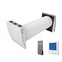 Dalap ZEPHIR SIMPLE egy helyiséges hővisszanyerő távirányítóval és fali vezérléssel akár 92 % hatékonysággal