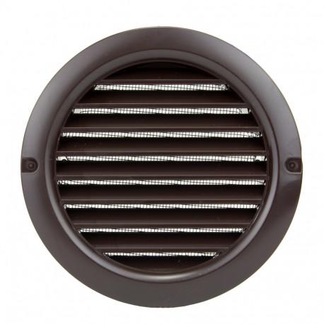 Műanyag barna kerek szellőzőrács DALAP GP 125 RUN