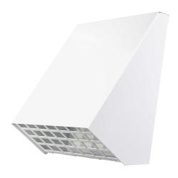 Fehér kültéri szellőzőrács a Dalap ZEPHIR PRO szobai hővisszanyerő készülékhez