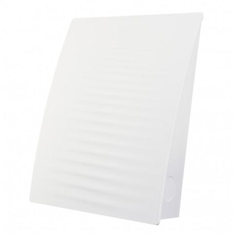 Fehér színű kültéri szellőzőrács hullám motívummal Dalap ZEPHIR SIMPLE szobai hővisszanyerő készülékhez