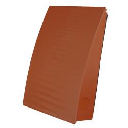 Terrakotta színű kültéri szellőzőrács hullám motívummal Dalap ZEPHIR SIMPLE szobai hővisszanyerő készülékhez