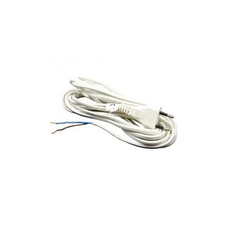 Hálózati kábel 2x0,75 mm fehér (5 méter)