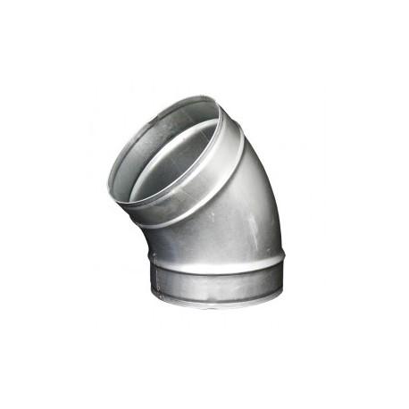 Galvanizált fém könyökidom DALAP EP 45°/160mm