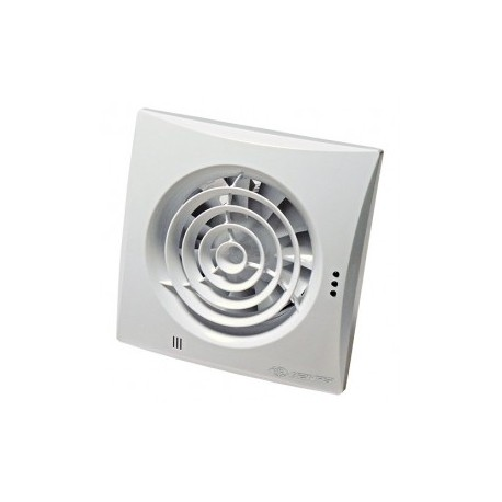 Fürdőszobai ventilátorok alacsony zajszinttel, időzítő és páraérzékelővel Vents 100 Quiet TH