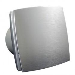 Fürdőszobai ventilátor Dalap 125 BFAZ ECO alumínium előlappal, halkított, időzítővel