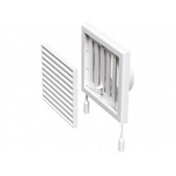 Műanyag állítható szellőzőrács csőcsonkkal DALAP GP 120 FLN