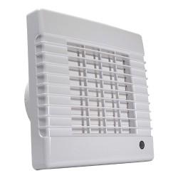 Fürdőszobai ventilátor automata zsaluval és időzítővel Ø 100 mm, emelt teljesítménnyel