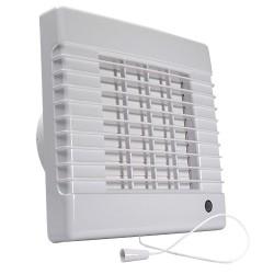 Fürdőszoba ventilátor Dalap 100 LVLZ, emelt teljesítménnyel, időzítővel és húzókapcsolóval