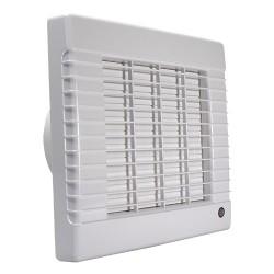 Fürdőszobai ventilátor Dalap 125 LVZ, emelt teljesítménnyel, időzítővel, automata zsaluval