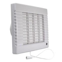 Fürdőszobai ventilátor Dalap 125 LVLZ, emelt teljesítmény, időzítő, húzókapcsoló, automata zsalu