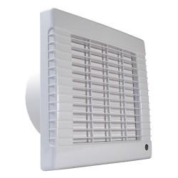 Fürdőszobai ventilátor Dalap 150 LVZ, automata zsalus, emelt teljesítménnyel és időzítővel