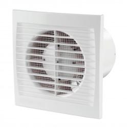 Fürdőszobai ventilátor Dalap 150 PT ZW ECO rovarhálóval, páraérzékelővel, időzítővel, halkított