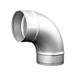 Görbületi galvanizált fém könyök DALAP EP 90°/80mm