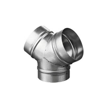 Fém Y idom DALAP 80/80 csővezeték elosztására vagy összekötésére