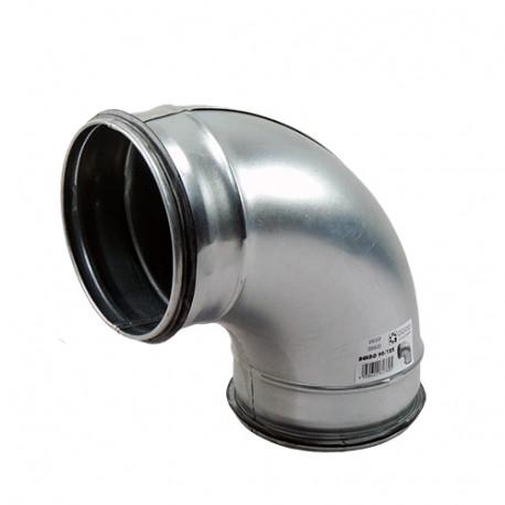 Galvanizált fém könyökidom 90° préselt gumi tömítéssel - Ø 80mm