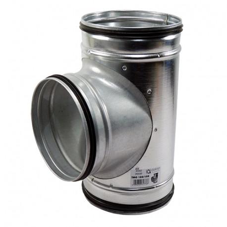 Galvanizált fém T idom préselt gumi tömítéssel - Ø 80/100 mm