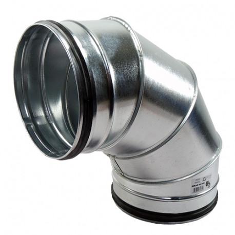 Galvanizált fém könyökidom 90° préselt gumi tömítéssel - Ø 150 mm