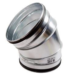 Galvanizált fém könyökidom 45° préselt gumi tömítéssel - Ø 150 mm