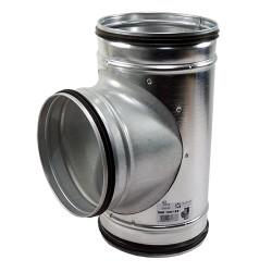 Galvanizált fém T idom préselt gumi tömítéssel - Ø 80/80 mm