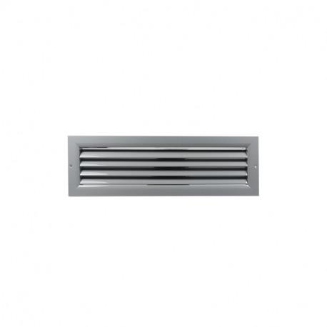 Szellőzőrács minőségi préselt alumíniumból - 450x200 mm, szürke