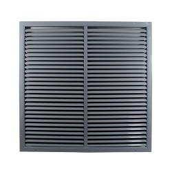 Szellőzőrács minőségi préselt alumíniumból - 900x900 mm, szürke
