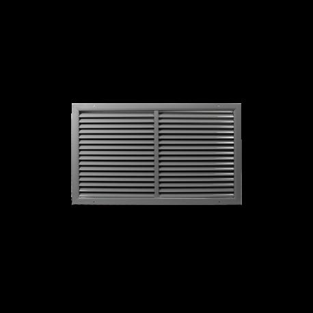 Szellőzőrács minőségi préselt alumíniumból - 500x500 mm, szürke