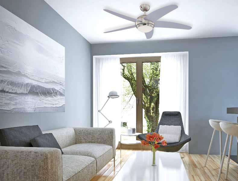 Mennyezeti ventilátor Westinghouse Bendan távirányítású, ezüst